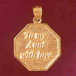 14K GOLD TALKING CHARM - TO MY AUNT WITH LOVE #7156