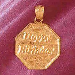 14K GOLD TALKING CHARM - HAPPY BIRTHDAY #7158