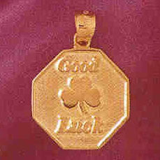 14K GOLD TALKING CHARM - GOOD LUCK #7159