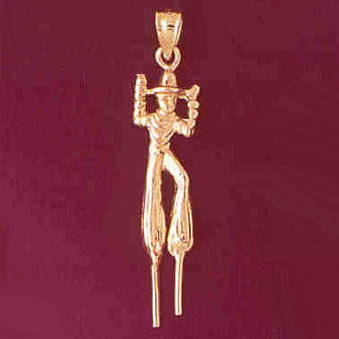 14K GOLD CHARM - CLOWN #7329