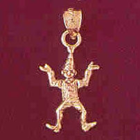 14K GOLD CHARM - CLOWN #7331
