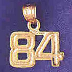 14K GOLD NUMERAL CHARM - 84 #9511
