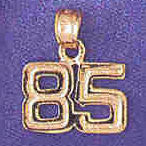 14K GOLD NUMERAL CHARM - 85 #9511