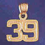 14K GOLD NUMERAL CHARM - 39 #9511