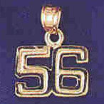 14K GOLD NUMERAL CHARM - 56 #9511