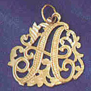 14K GOLD INITIAL CHARM - A #9557