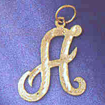 14K GOLD INITIAL CHARM - A #9559