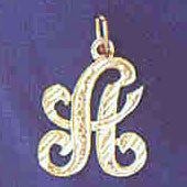 14K GOLD INITIAL CHARM - A #9560