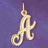 14K GOLD INITIAL CHARM - A #9565