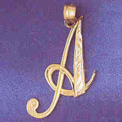 14K GOLD INITIAL CHARM - A #9566