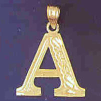 14K GOLD INITIAL CHARM - A #9571