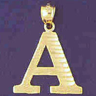 14K GOLD INITIAL CHARM - A #9572