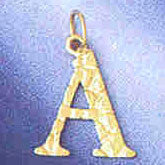 14K GOLD INITIAL CHARM - A #9574