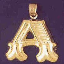 14K GOLD INITIAL CHARM - A #9577