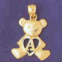 14K GOLD INITIAL CHARM - A #9580