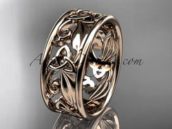 14kt rose gold celtic trinity knot wedding band, engagement ring CT7150G - AnjaysDesigns