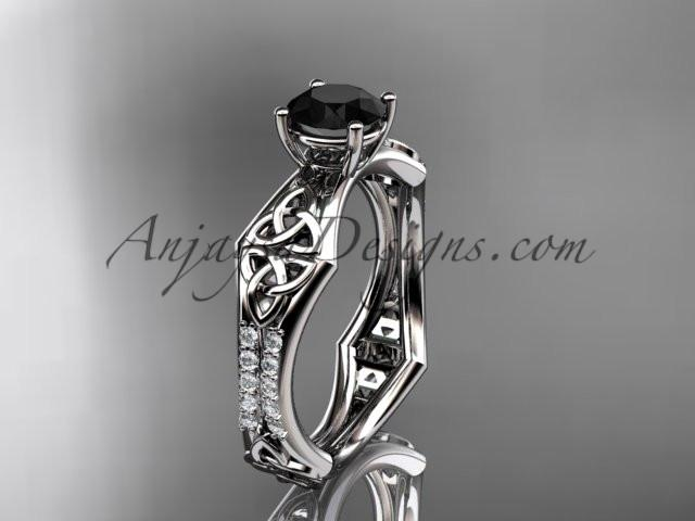 Black Diamond Celtic Bridal Sets Diamond Engagement Wedding Rings