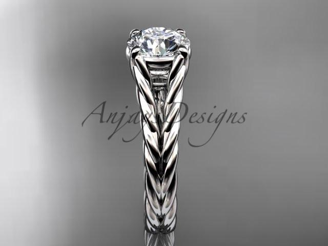 Platinum twisted rope wedding ring RP8108