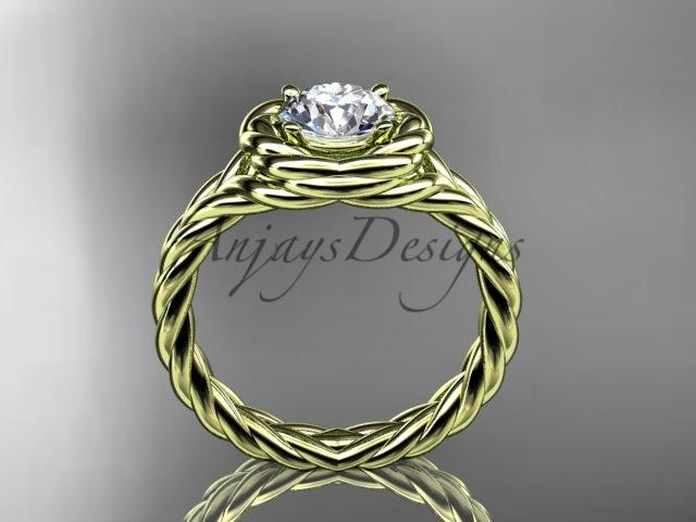 14kt yellow gold twisted rope engagement ring RP8201