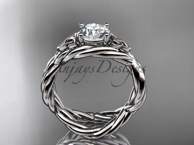 platinum celtic rope engagement ring RPCT9181