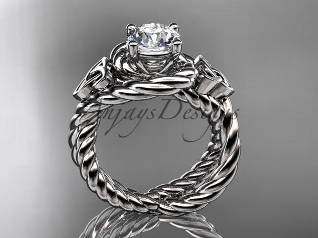 Platinum celtic trinity twisted rope wedding ring RPCT9320