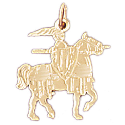 14K GOLD  CHARM - ANCIENT WORRIOR #4828