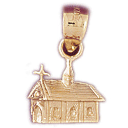 14K GOLD HOUSE CHARM #6992