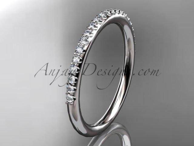platinum diamond unique wedding ring, engagement ring, wedding band, stacking ring ADER103 - AnjaysDesigns