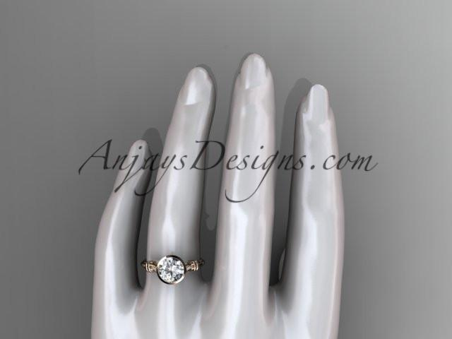 14k rose gold diamond leaf and vine wedding ring,engagement ring ADLR23 - AnjaysDesigns, Unique Engagement Rings - Jewelry, Anjays Designs - AnjaysDesigns, AnjaysDesigns - AnjaysDesigns.co,