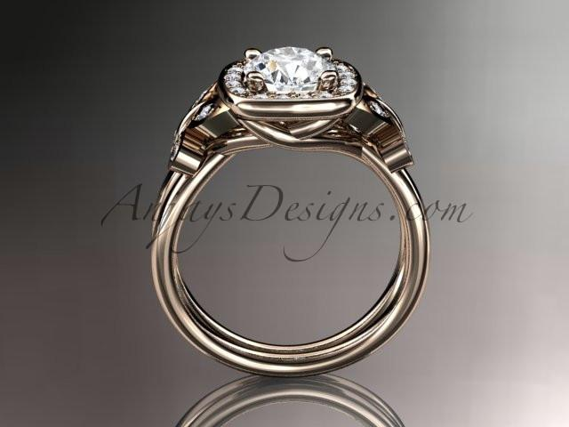 14kt rose gold diamond unique butterfly engagement ring, wedding ring ADLR330 - AnjaysDesigns