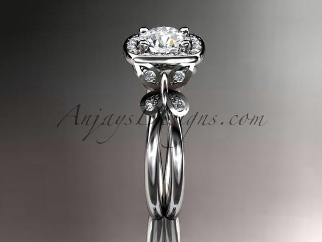 14kt white gold diamond unique butterfly engagement ring, wedding ring ADLR330 - AnjaysDesigns