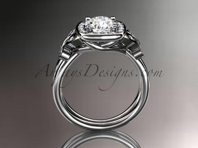 Platinum diamond unique butterfly engagement ring, wedding ring ADLR330 - AnjaysDesigns