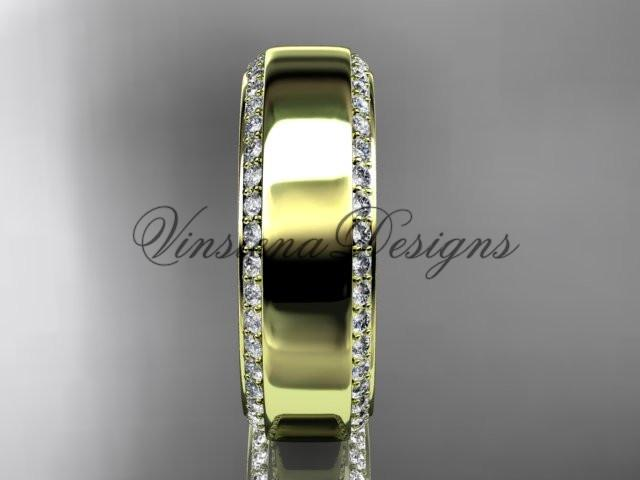 14k yellow gold classic wedding band, engagement ring ADLR380G