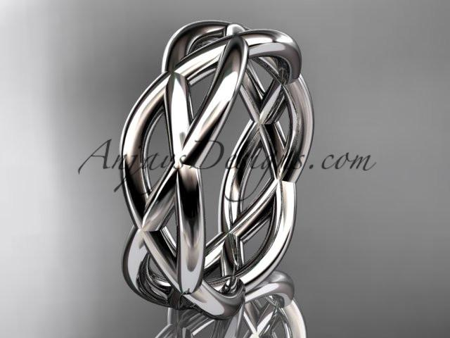 platinum wedding band ADLR392G - AnjaysDesigns