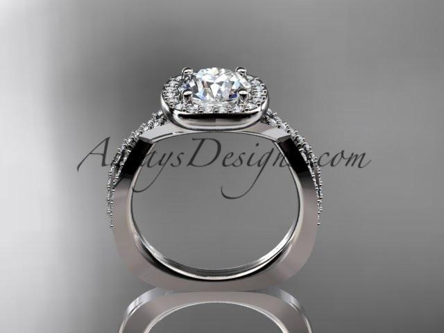 platinum wedding ring, engagement ring ADER393 - AnjaysDesigns