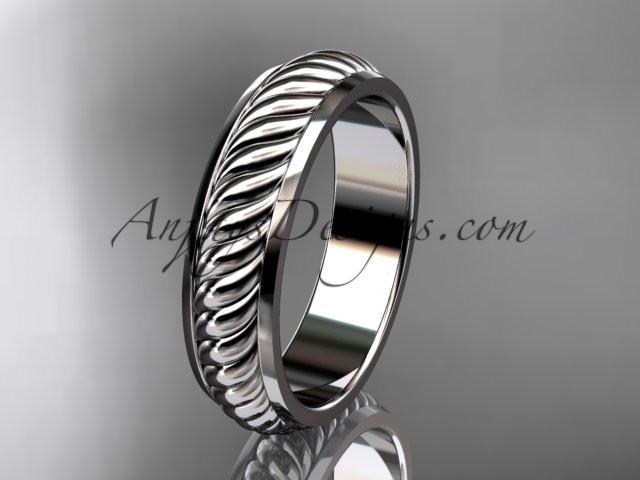 platinum wedding band ADLR399G - AnjaysDesigns