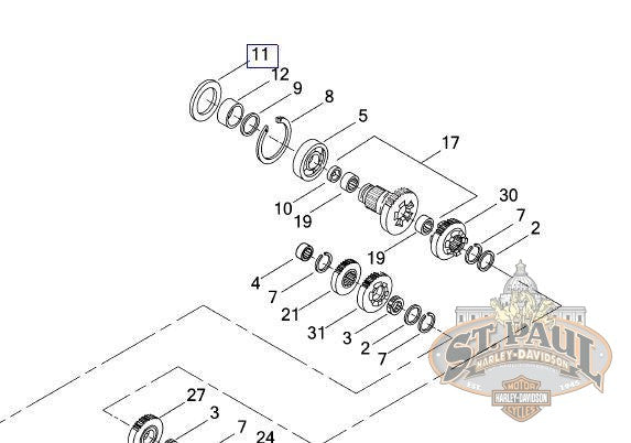 12067B **Genuine Buell Transmission Mainshaft Oil Seal