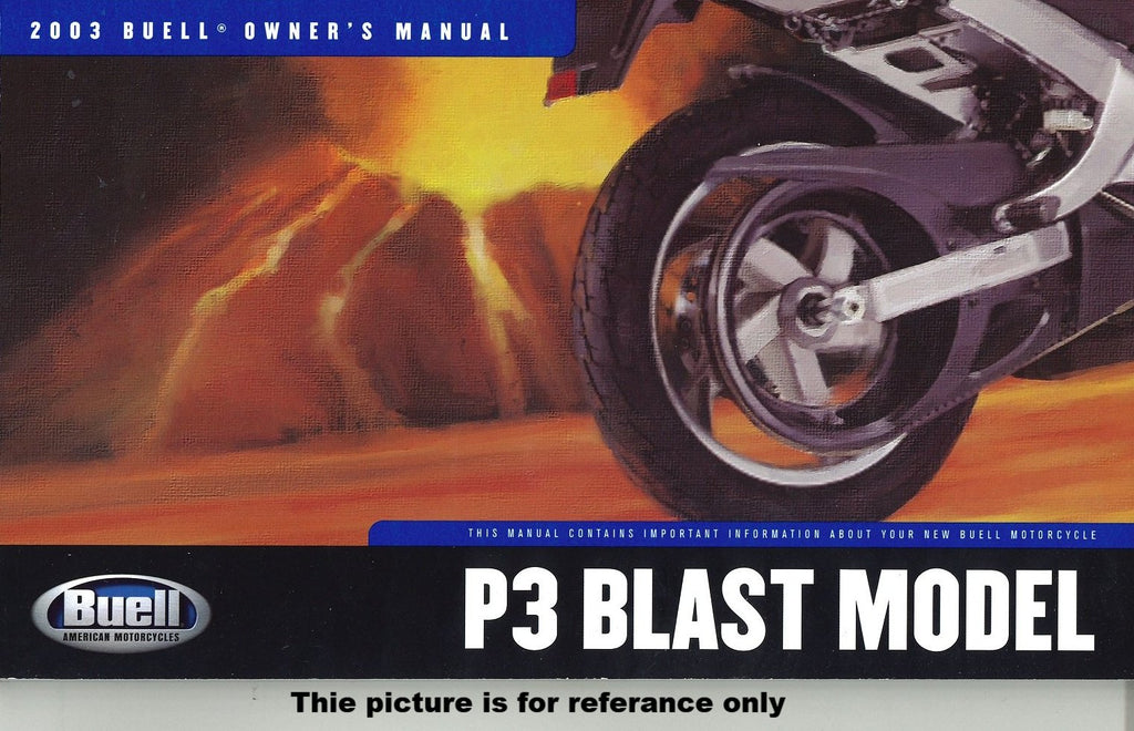 Genuine Buell 2000-2010 Blast Model Factory Owner's Manuals