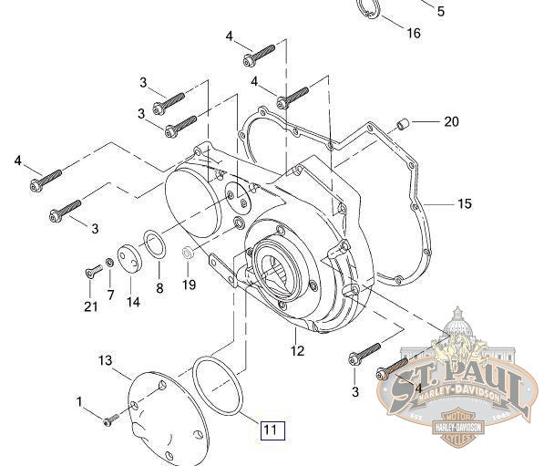 25463-94A **Genuine Buell Clutch Cover Square Gasket / O