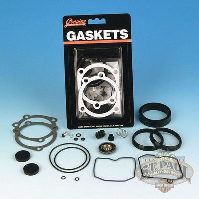 Jgi 27006 88 James Gaskets Carburetor Rebuild Kit Fits All 1995 2002 Tube Frames Non Efi Models L3E5