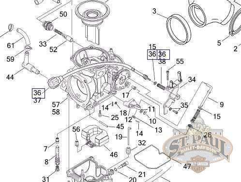 27347-96Y Genuine Buell Idle Adjuster Cable Kit (L18D