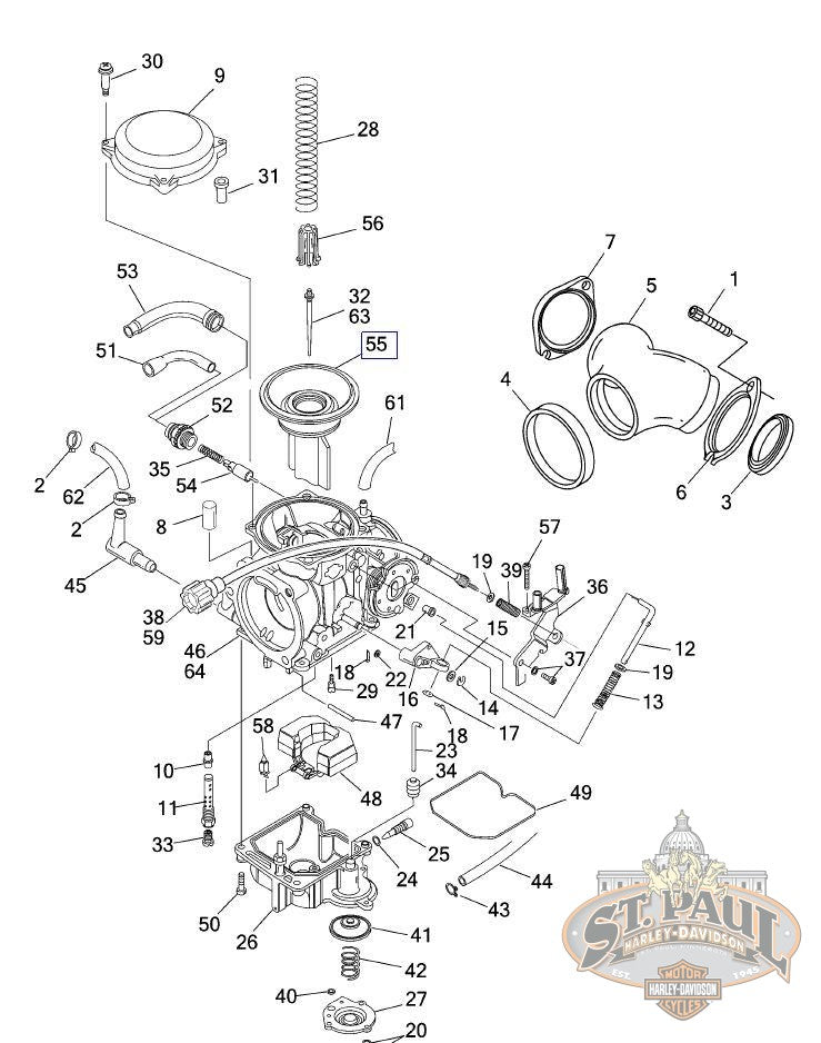 27585-88 **Genuine Buell Carburetor Vacuum Piston