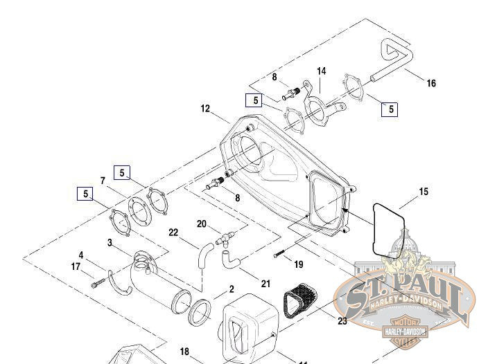 29059-88A **Genuine Buell Carburetor To Air Cleaner Gasket