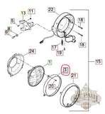 Y9004.t Genuine Buell Headlight Retaining Ring 00-10 P3 Blast Models (B4F) Body