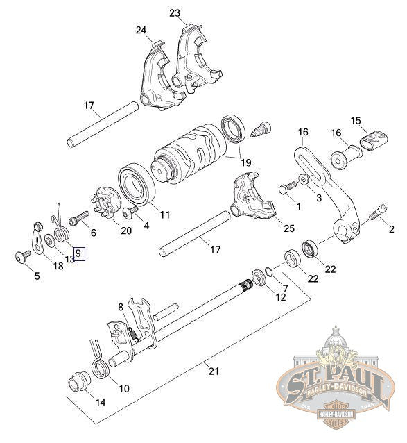 CG0003.1AMA Genuine Buell Shifter Index Spring, 2008-2010