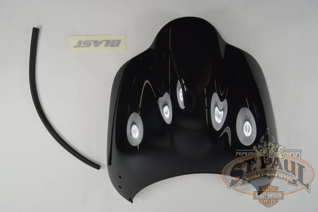 M1600 11A7Mw Genuine Buell Midnight Black Windscreen With Decal 2000 2010 Blast P3 U5B Body