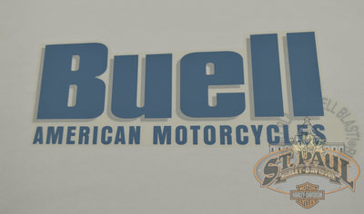 M0730 4A7 Genuine Buell Fuel Tank Left Decal 2000 2010 Blast P3 U10A Emblem