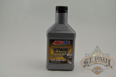 20W 50 Amsoil Synthetic V Twin Motorcycle Oil Engine