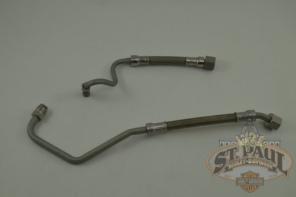 H0044 02A8 Genuine Buell Oil Cooler Feed Return Line Kit 2003 2007 Xb Models L19A Engine