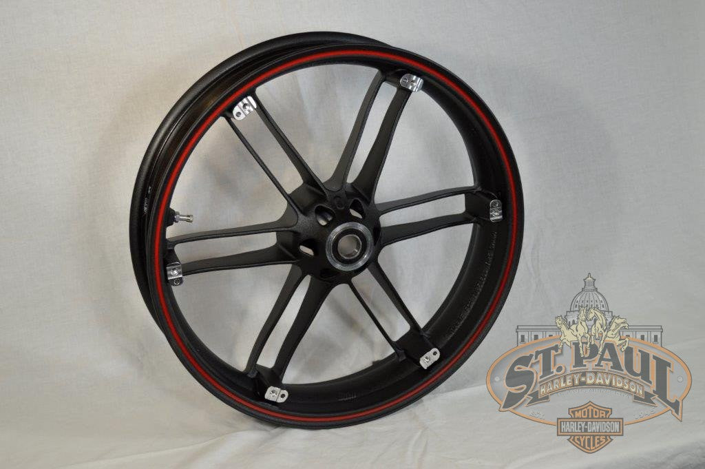 G0110 02A8Bydc Genuine Buell Front Piranha Black With Red Pinstripe Wheel All Xbs 1125S U6A Wheels